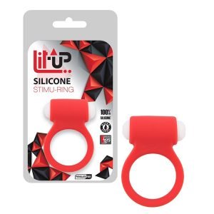 ANEL LIT-UP SILICONE STIMU-RING 3 RED