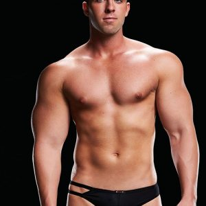 MICROFIBER LOW-RISE THONG BLACK