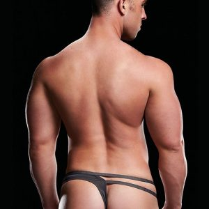 MICROFIBER LOW-RISE THONG GREY