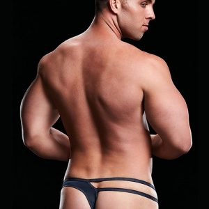 MICROFIBER LOW-RISE THONG NAVY