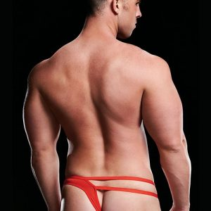 MICROFIBER LOW-RISE THONG RED