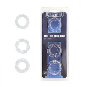 MENZSTUFF STRETCHY COCK RINGS CLEAR