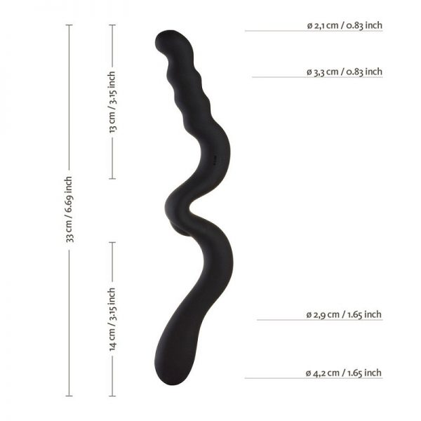FUN FACTORY NEW WAVE DOUBLE DILDO BLACK