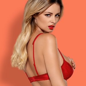 LOVICA UNDERWIRE, PADDED HALF-BRA RED